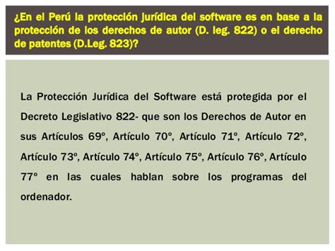 derechos de autor en per 250 registro derechos de autor diapo de protecci 243 n jur 237 dica del software y el derecho de