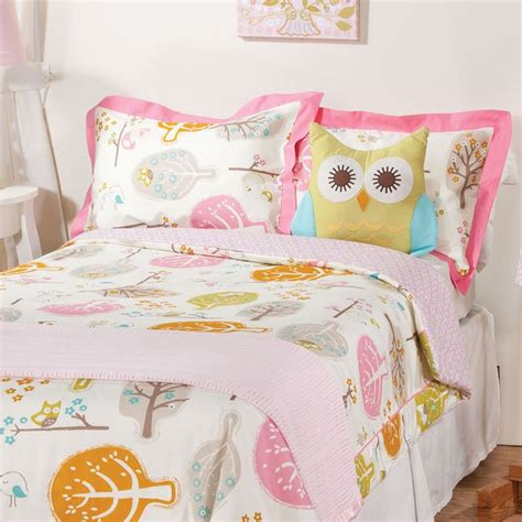 owl bedding for girl lovebirds tiger lily orchid twin comforter and sham set