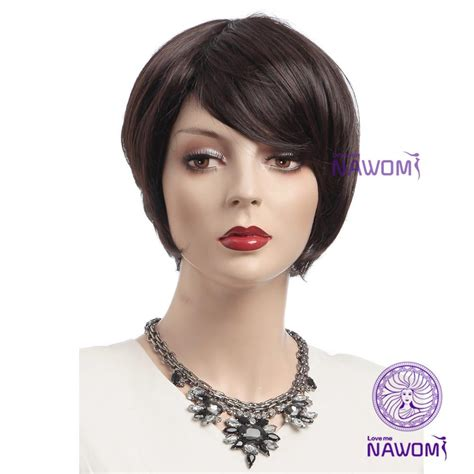 Highest Rated Wigs For Women | best selling wigs office ladies wigs short brown wigs for