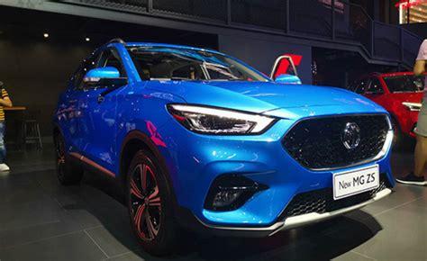 india bound mg zs facelift unveiled   chengdu motor show