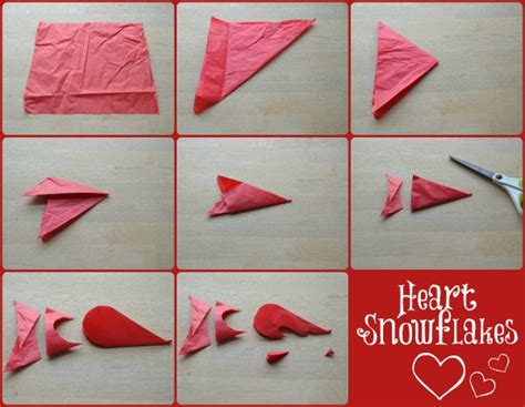 printable heart snowflakes how to make heart snowflakes red ted art s blog