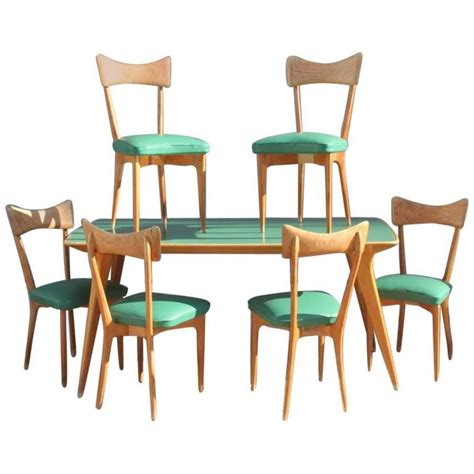 Modern Glass Dining Room Sets Table With Chairs Attributed To Ico Parisi Mid Century