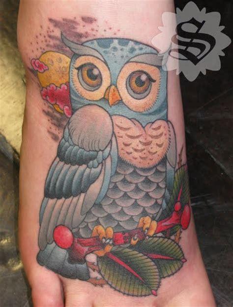 magic tattoos painting magic owl