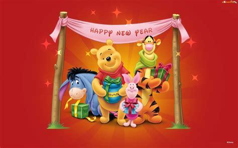 winnie the pooh new year wallpaper kubu蝗 puchatek przyjaciele nowy rok tapeta na pulpit