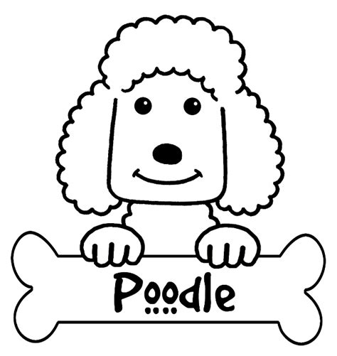 poodle colouring pages