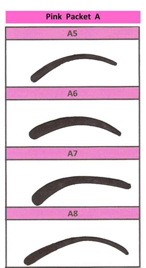 eyebrow shaping templates eyebrow stencil shaping waxing colouring kit 4 pink packet
