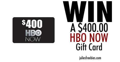 Hbo Gift Card - win a 400 hbo now gift card julie s freebies