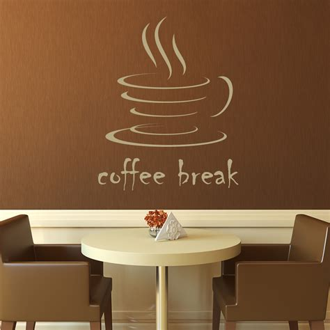 coffee wall stickers coffee kitchen cafe wall decals wall stickers