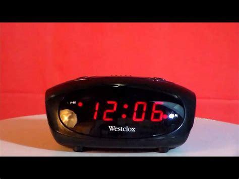 westclox  digital led display alarm clock youtube