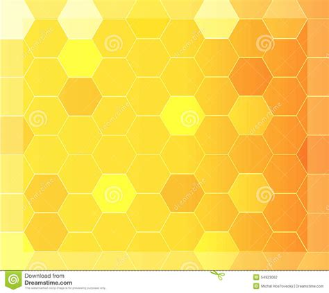 yellow hexagon pattern modern abstract background with orange and yellow hexagon
