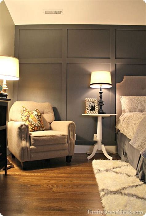 gray bedroom walls dark gray accent wall board and batten look master
