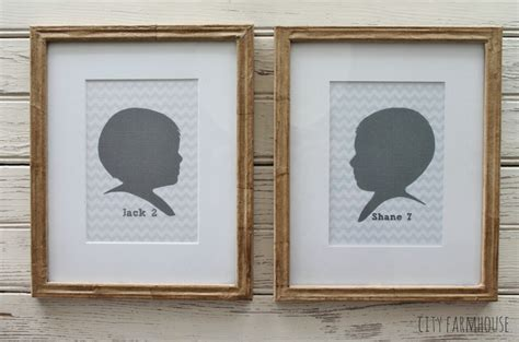 diy craft paper frames silhouettes family city farmhouse