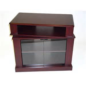 swivel tv stands cherry tv stand with swivel top for tvs up to 32