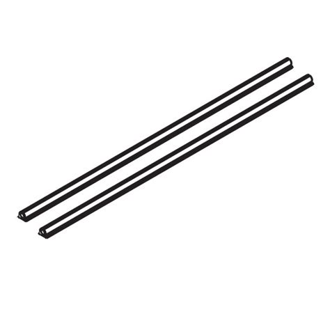Shelf Rails by Easy Slide Flat Shelf Rail Stak Pak