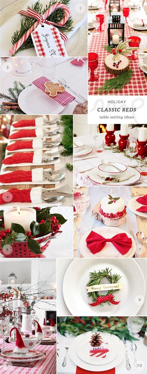 378 best christmas table decorations images on pinterest