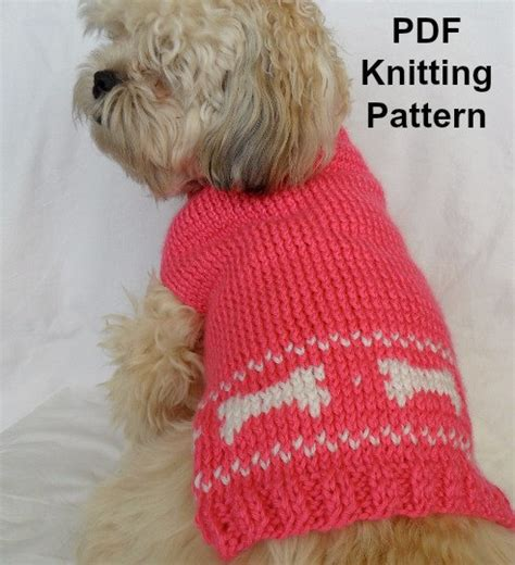 knitting pattern for dog sweater cute dog sweater knitting pattern pdf small dog sweater