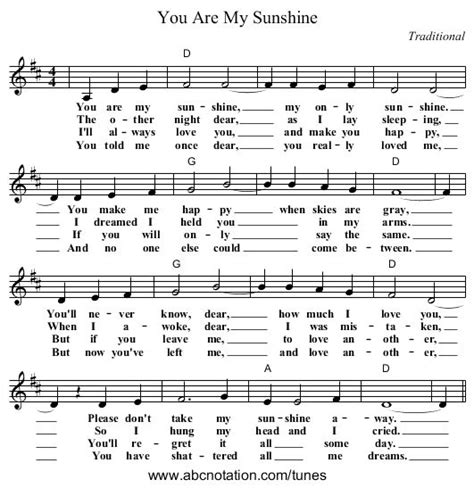 full version you are my sunshine free sheet music for piano you are my sunshine 1000