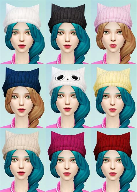 sims 4 beanie knit beret and cat ear beanie jsboutique sims 4