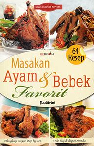 64 resep masakan ayam bebek favorit demedia pustaka