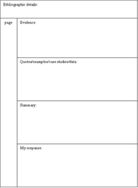 note taking templates for college phd effective note taking