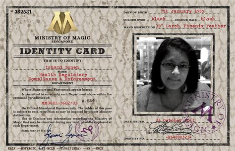 ministry of magic identity card template ministry of magic identity card by isnani on deviantart