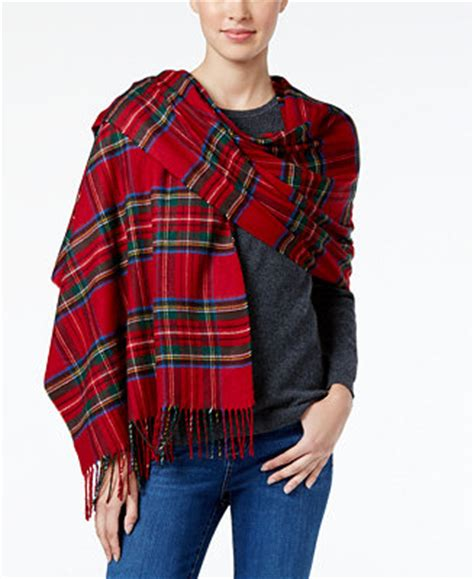 charter club tartan plaid blanket scarf only at macy s
