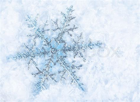 Home Design Credit Card beautiful blue snowflakes isolated on snow winter holiday