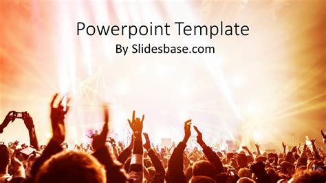 rock powerpoint themes rock on powerpoint template slidesbase