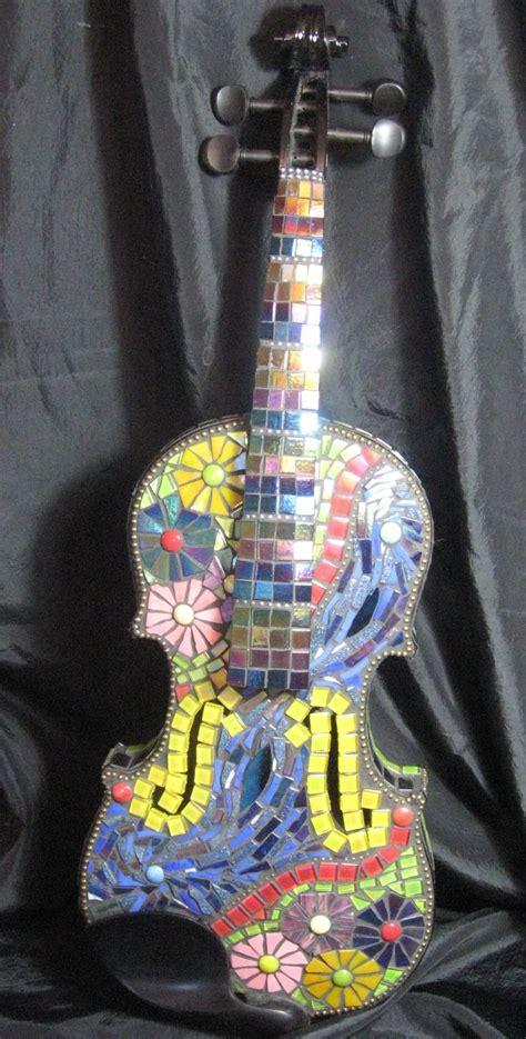 mosaic violin pattern 127 best mosaic violins guitars etc images on pinterest