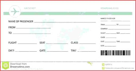 pretend plane ticket template play ticket template play free early years editable