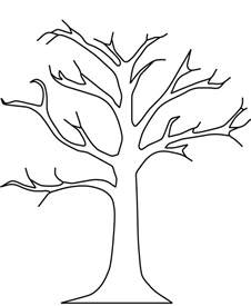 tree template without leaves printable tree without leaves coloring pages