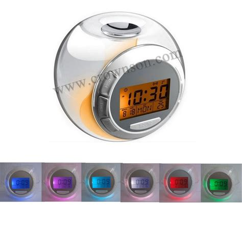 Apple Nature Sound Color Change Clock sound calendar clock with 7 color changing backlight china calculator manufacturer
