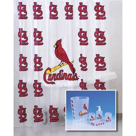 st louis cardinals bathroom accessories chionship home accessories mlb 7 piece bath set