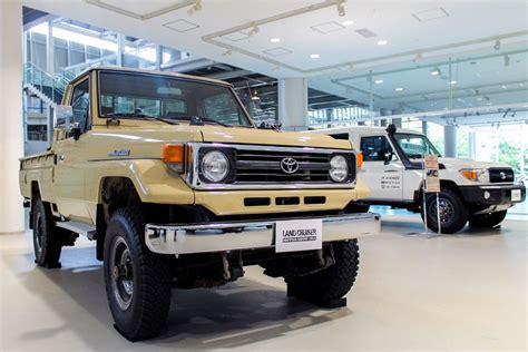 land cruiser 70 pickup events land cruiser motor show in tokyo celebrates