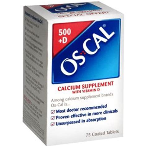 Os Cal os cal 500 d 75cp glaxo smithkline consumer industrial products industrial