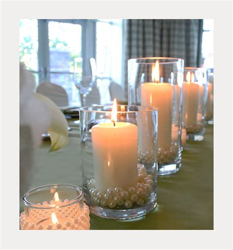wedding centerpieces with candles and pearls diy pearl and candle centerpieces mon cheri bridals