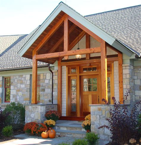porch plans add a timber frame porch for a unique welcoming for your
