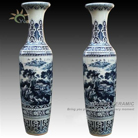high quality large floor vases antique vases blue and