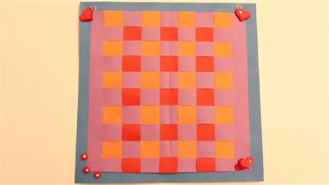 How To Make A Paper Weave - learn paper weaving