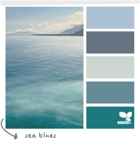 soothing sea blue wordless wednesday coastal decor color palettes sea blues cereusart