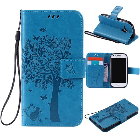 Casing Mini 3 for coque samsung s3 mini for fundas samsung galaxy s3 mini i8190 3d tree cat pattern