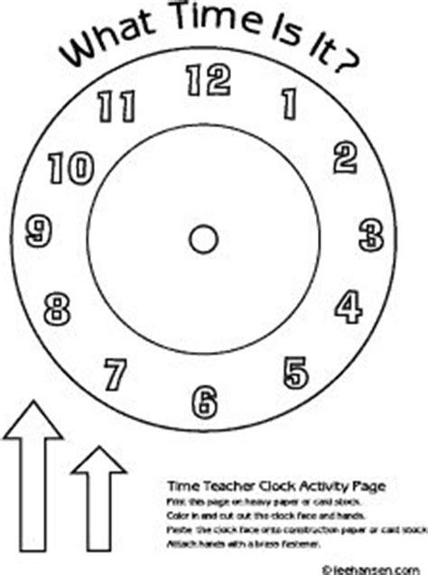 printable preschool clock face time teacher clock coloring page education pinterest
