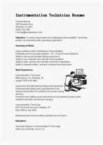 Resume Samples Instrumentation Technician Resume Sample