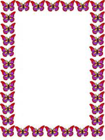 Butterfly Border Template by Free Butterfly Border Stationery Free Printable Butterfly