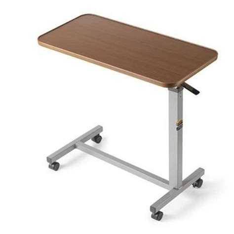 rolling adjustable bedside table table overbed bed tilt top hospital adjustable