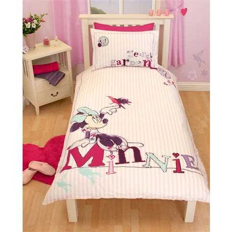 Bedcover Cbaracter disney mickey or minnie mouse single junior duvet cover sets bedding ebay