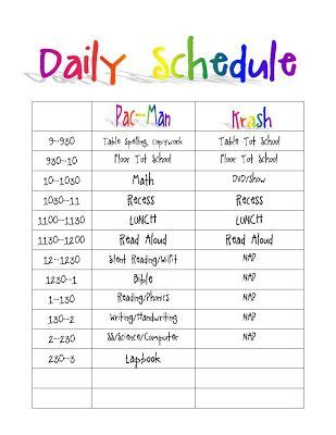 child care daily routine template printable daily routine schedule template clipart autism