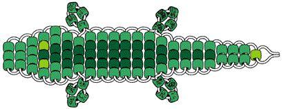 alligator bead pattern alligator bead pet pour les tout petits