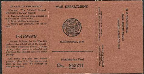 printable ww2 identity card id carte
