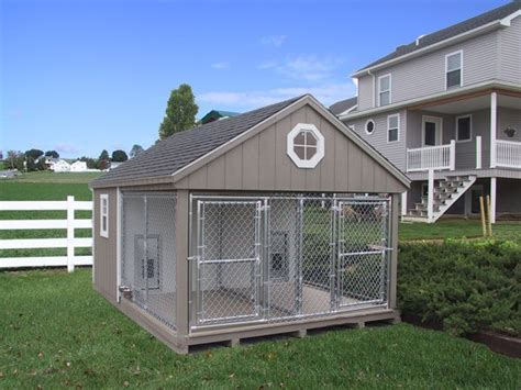 amish built dog houses durable k 9 police 2 dog custom built outdoor kennel run house amish dutch shed ebay